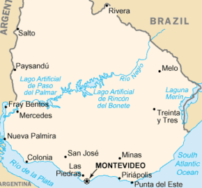 Uruguay A Cruising Guide On The World Cruising And Sailing Wiki - Uruguay map png
