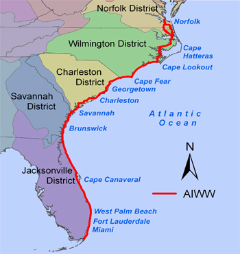 Florida Intracoastal Waterway Map Atlantic Intracoastal Waterway   a Cruising Guide on the World