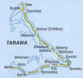 Tarawa A Cruising Guide On The World Cruising And Sailing Wiki - tarawa atoll map