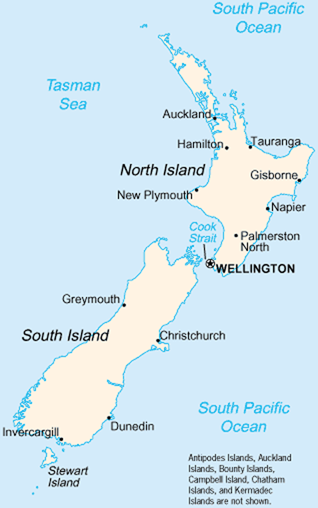 Map Of Palmerston North New Zealand.New Zealand A Cruising Guide On The World Cruising And