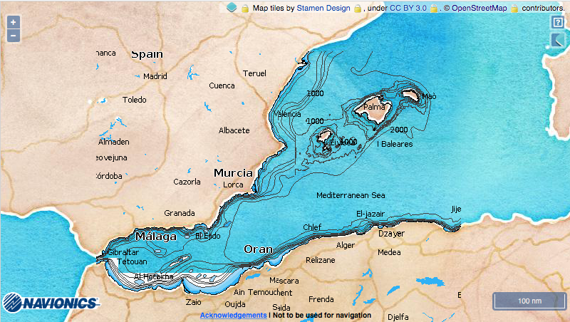 Map Of Coastal Spain.Mediterranean Coast Of Spain A Cruising Guide On The World