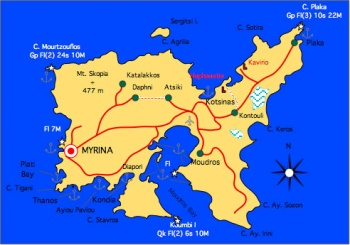 Lemnos Greece Map.Limnos A Cruising Guide On The World Cruising And Sailing Wiki