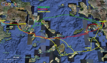 Passages Between Athens Region And Samos Kusadasi A Cruising Guide On The World Cruising And Sailing Wiki