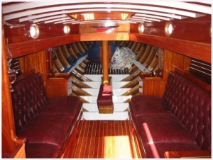 Early 20th Century Racing Boat Interior