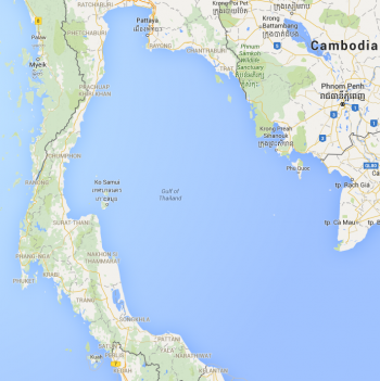 Gulf Of Thailand Map Gulf of Thailand   a Cruising Guide on the World Cruising and